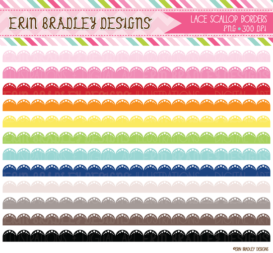 New Lace Scalloped Circles Borders on Chevron Circle Clip Art Free