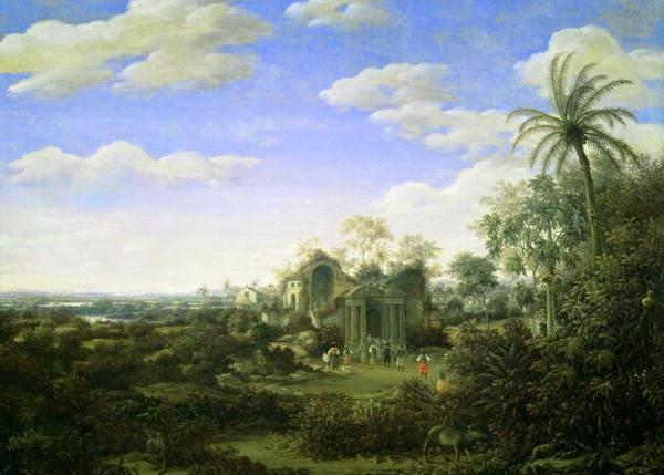 Paisagem Brasileira com uma Procissão ~ Frans Post - Holandês - Barroco Brasil Colonial