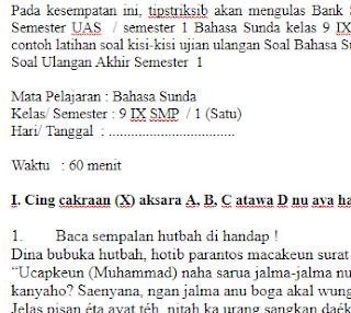 Soal-Ulangan-Ujian-UAS-Bahasa-Sunda-kelas-9-SMP-semester-1