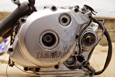 Yamaha YBR 125 complete engine strip down disassembly