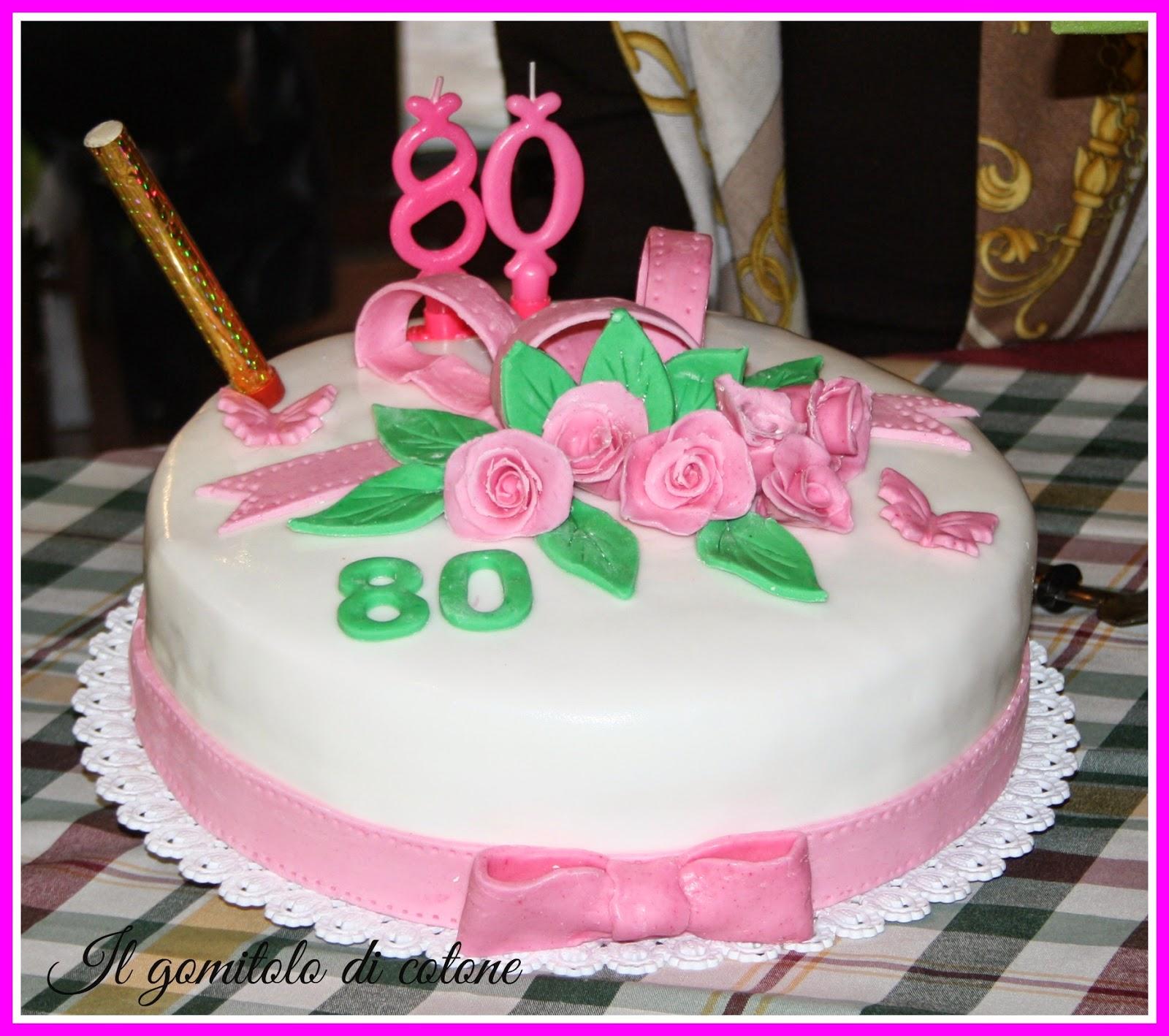 Conosciuto Il gomitolo di cotone: Bomboniere 80° compleanno e torte! EM11