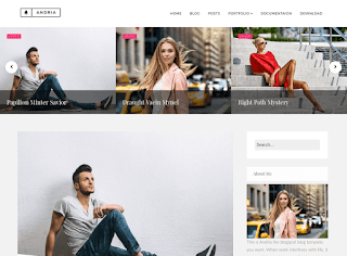 Andria Minimal Blogger Template