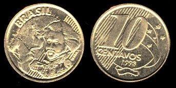 Brazil 10 Centavos (1998,1999)