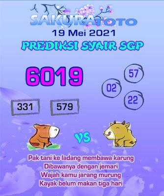 Syair sgp merpati putih 19 mei 2021
