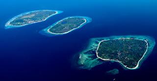 Tree Gili Island in Lombok, Indonesia