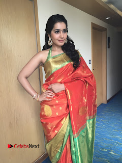 Actress Raashi Khanna Latest Pictures in Silk Saree  0002