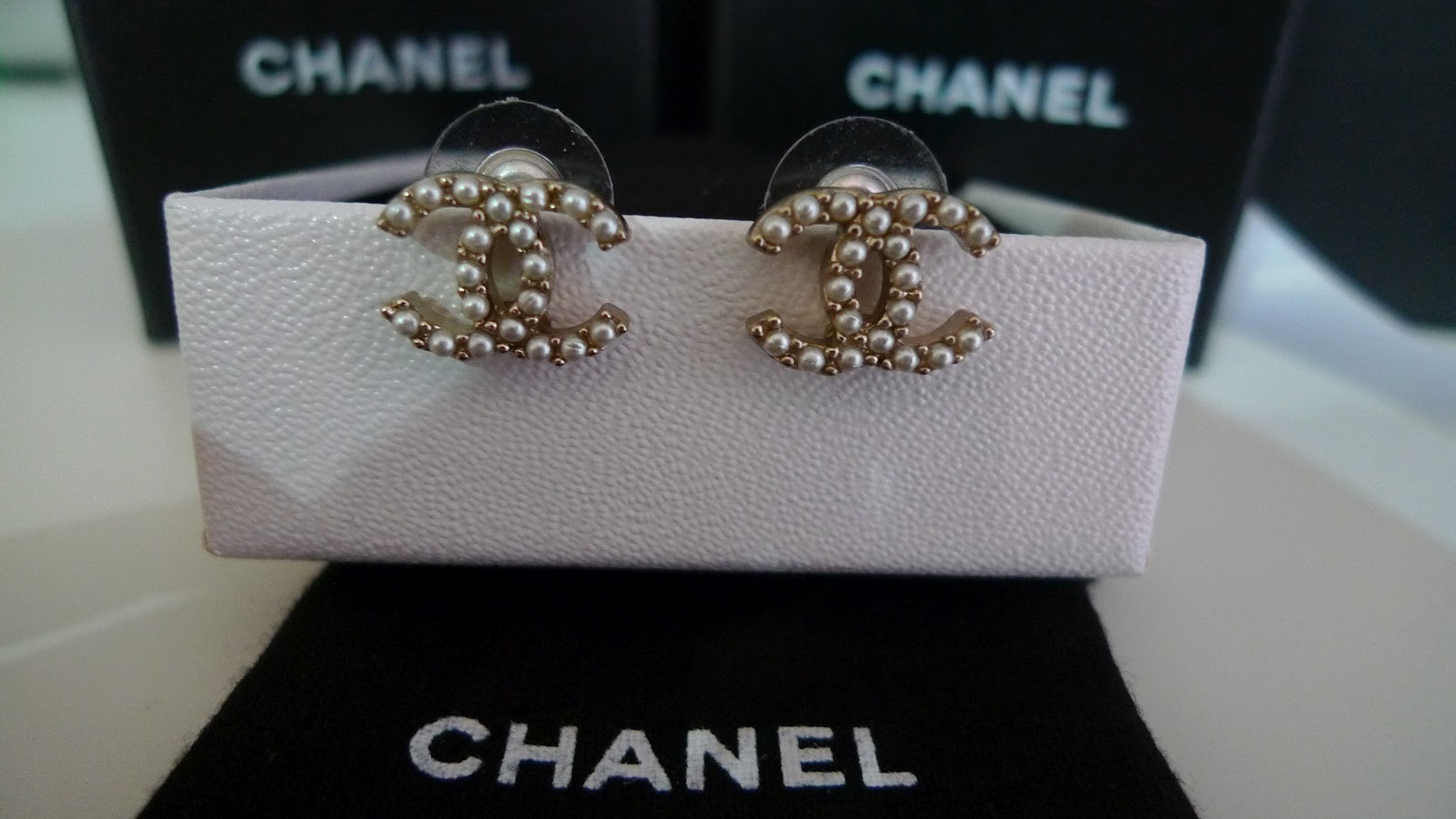 Gold Plated Pearls Double C Stud Earrings At Rm880 Nett Chanel 2017 Collection