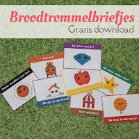 Broodtrommelbriefjes - gratis download