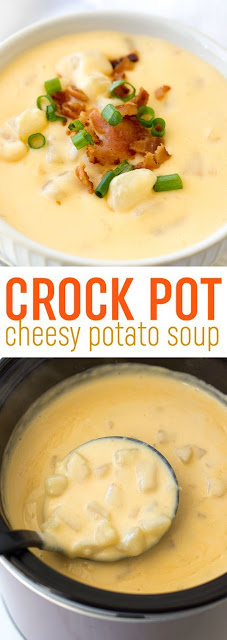 CROCK POT CHEESY POTATO SOUP RECIPE