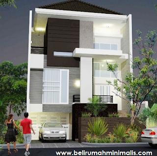 Rumah minimalis sederhana type 21 kombinasi warna putih