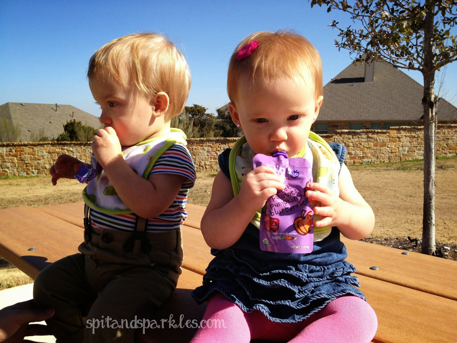 Babies with little hair can wear accessories too with Girlie Glue! Enter to #win a free tube plus 3 bows at Spit and Sparkles. #giveaway @GirlieGlue