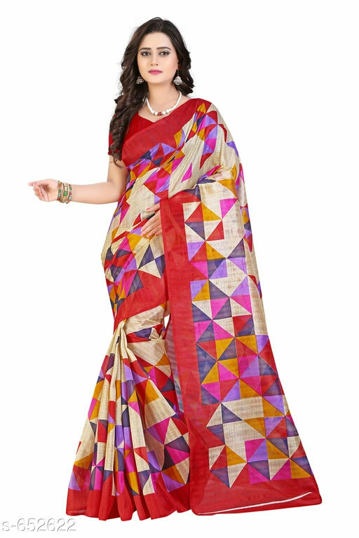 Ethnic Bhagalpuri Silk Printed Saree