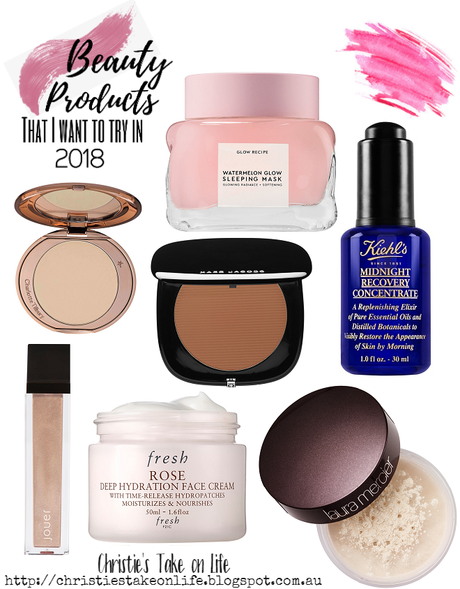 Makeup and beauty products that I want to get my hands on in 2018