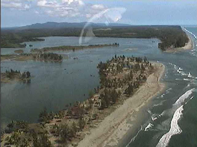 The Sissano Lagoon devastated after the 1998 tsunami  (Image courtesy of Jose Borrero, University of Southern California)