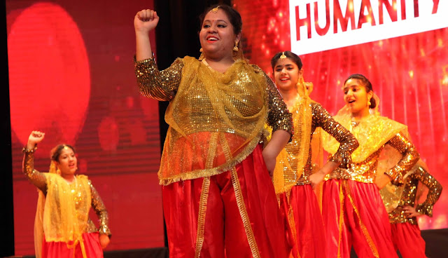 Children's cultural presentation in Humanity-Fest-2014 organized by Satyug Darshan Trust