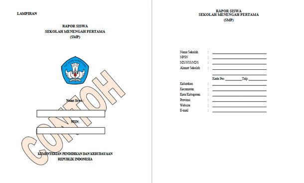 Format Raport SMP dan Petunjuk Pengisian sesuai Pedoman Penilaian dari Kemdikbud