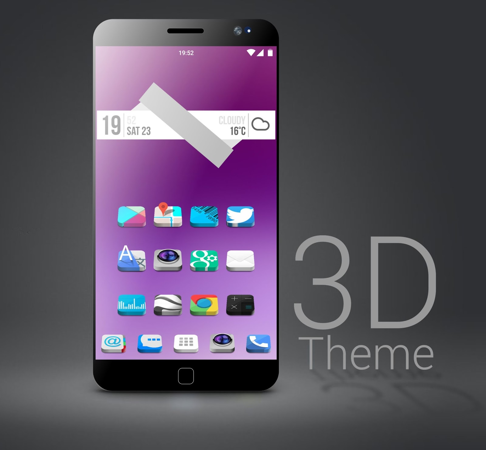 Themes For Android: Theme To Android Icon Pack 3D To Nova