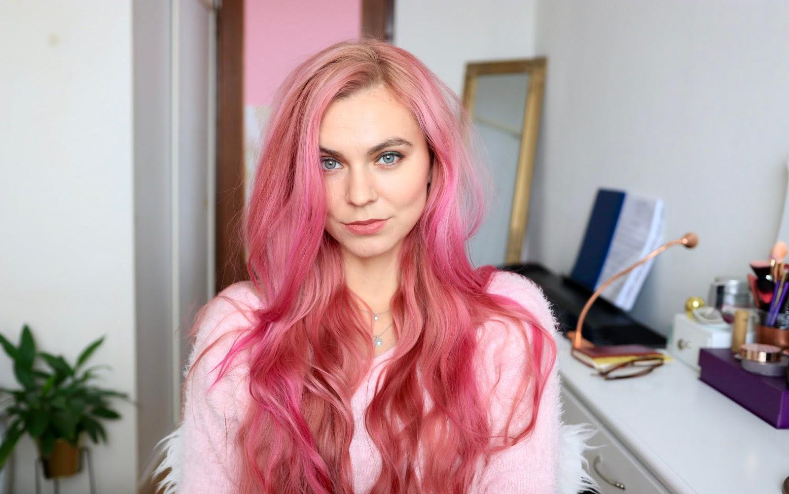 vymyvateľná ružová farba na vlasy