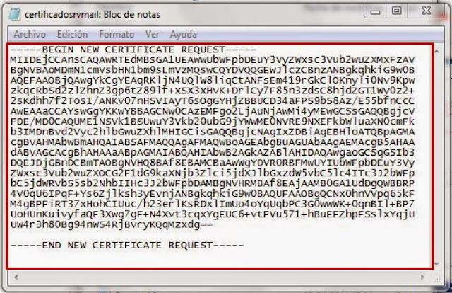 Archivo *.req con Bloc de Notas.