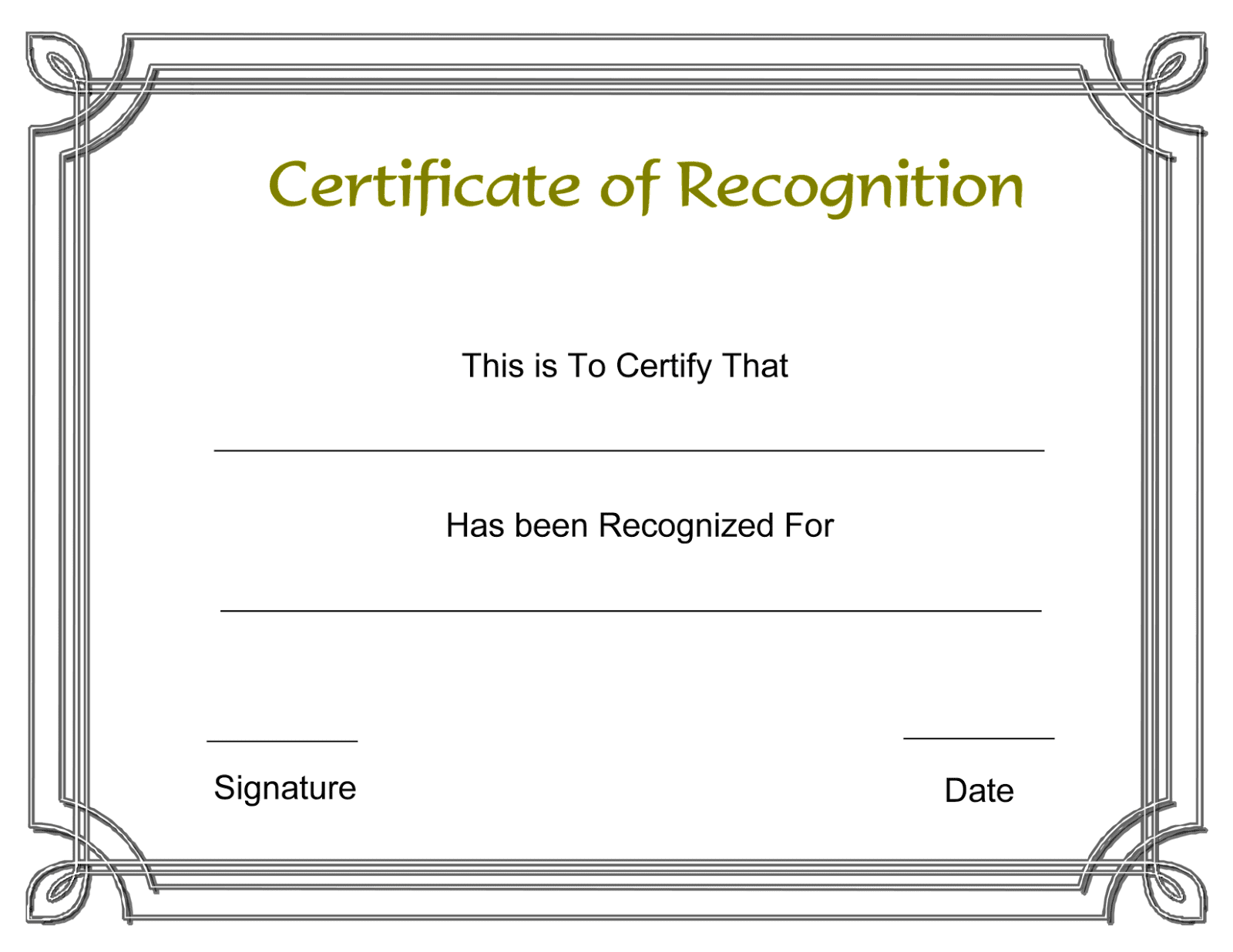 Certificate of recognition template microsoft word d templates certificate of recognition template microsoft word yelopaper Images