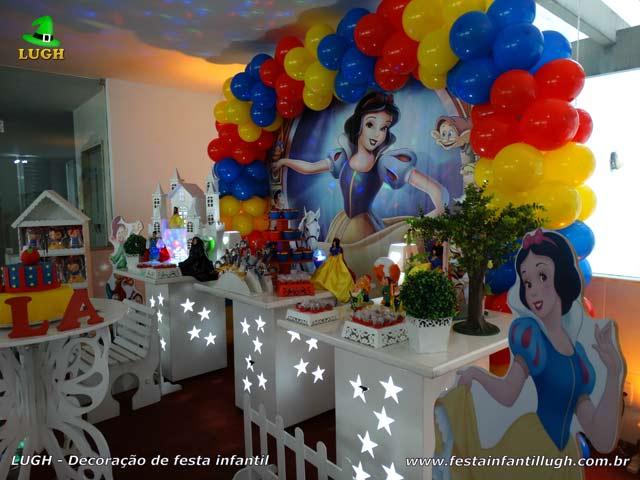 Decoração tema Branca de Neve - Festa de aniversário infantil