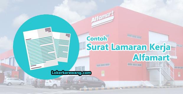 Contoh Surat Lamaran Pekerjaan di Alfamart Yang Cukup Mudah