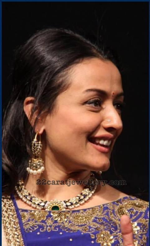 Namrata Shirodkar Meena Work Choker