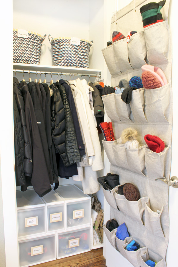 Organized Coat Closet - Small Coat Closet Storage
