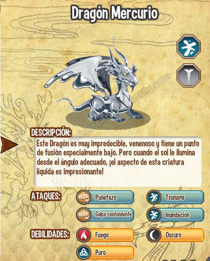imagen del dragon mercurio y sus caracteristicas