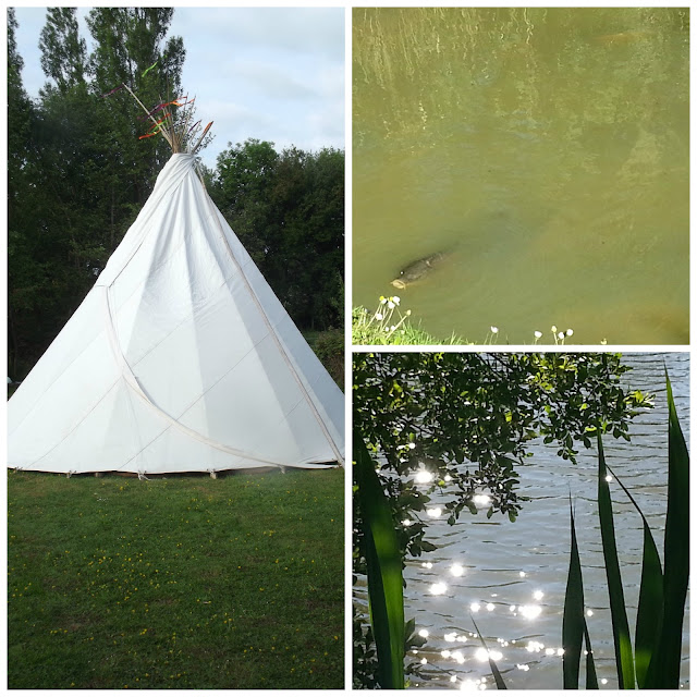 Tipi, Carp, Sun on Lake
