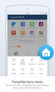 uc browser mini yang ringan dan memiliki tampilan keren