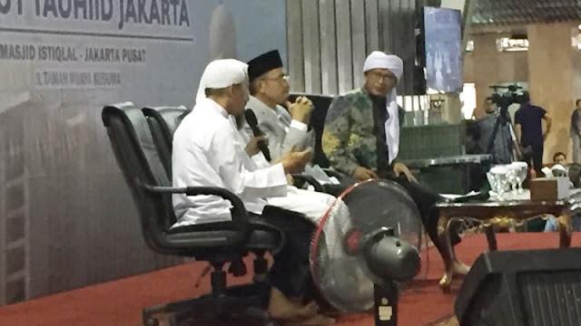 Duduk Disamping TGB, Aa Gym Beri Nasihat Ini Soal TGB Dukung Jokowi