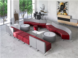 Woodstock Jefferson Modular Lobby Seating Configuration