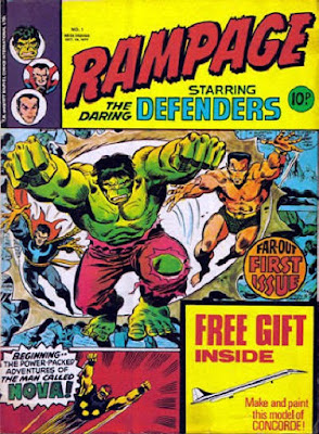 Marvel UK, Rampage #1, the Defenders and Nova