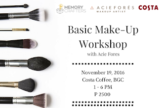 Basic Makeup Workshop with Manila Workshops and Memory Crafters with Acie Fores