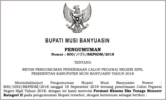 pengumuman formasi cpns musi banyuasin tahun 2019 2020