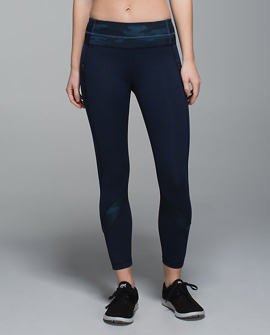 lululemon oil slick blue inspire tight