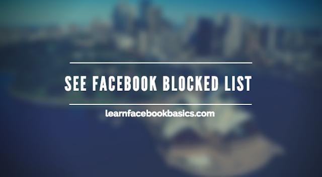 View Blocked List On Facebook