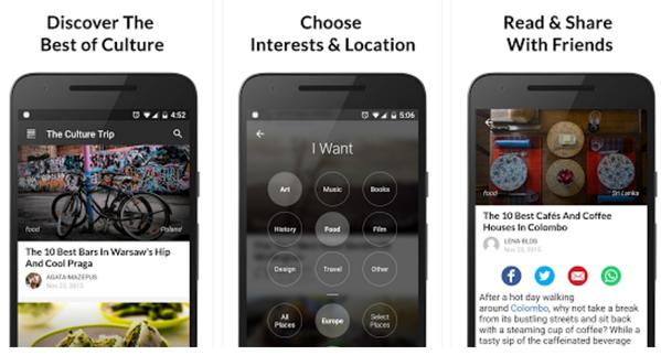 Culture trip; aplikacja; app; travel app
