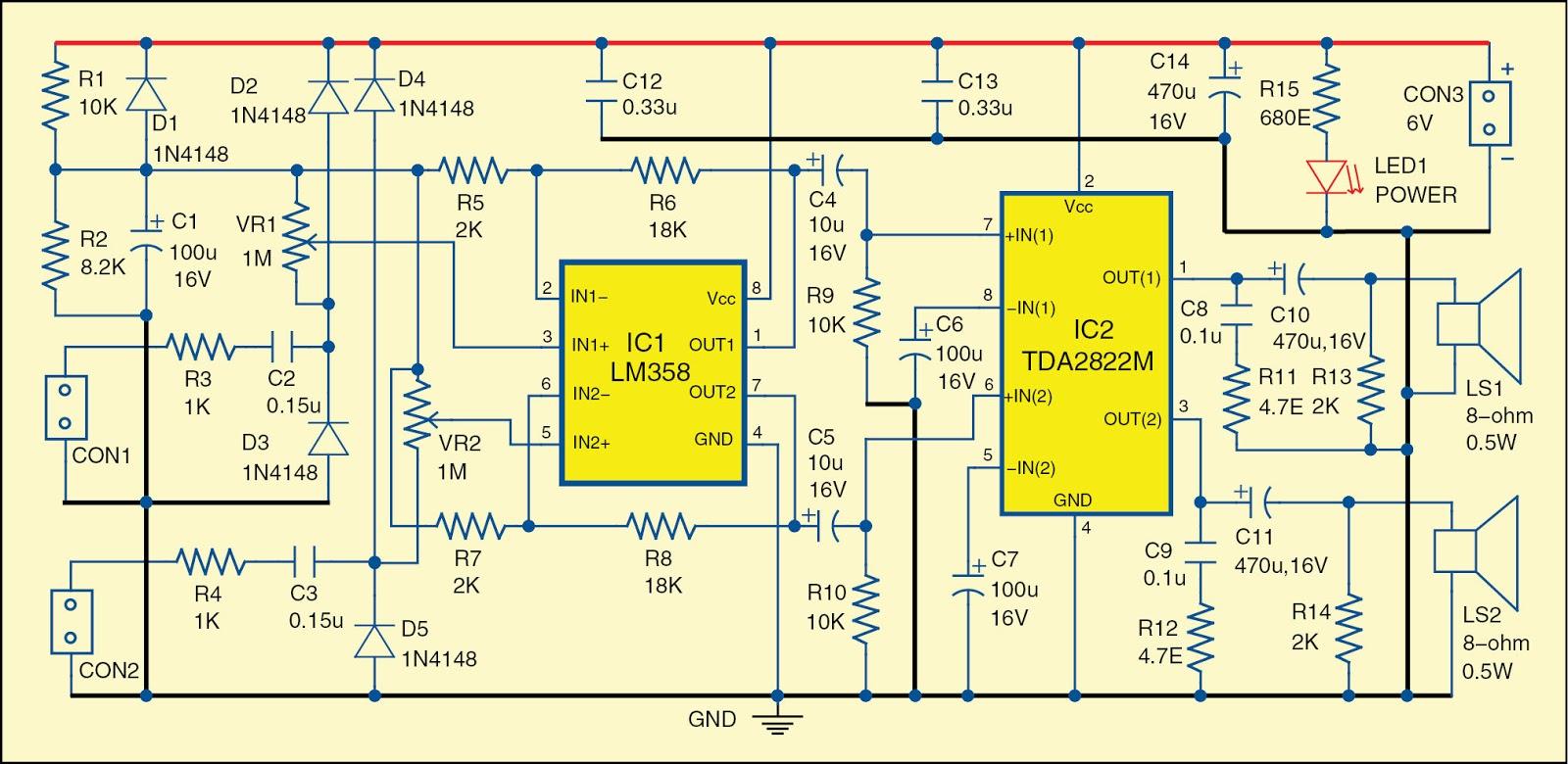 simple dual audio signal tracer circuit diagram. Black Bedroom Furniture Sets. Home Design Ideas