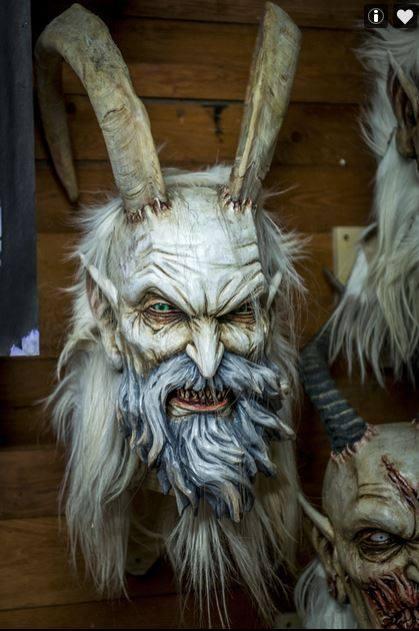 Hand Carved Krampus Masks By Stefan Koidl
