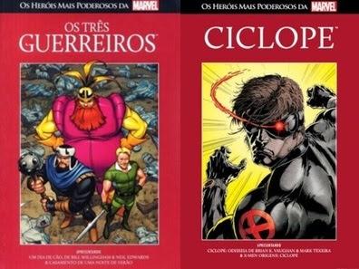 Resenha Os Heróis Mais Poderosos da Marvel Vol. 12 Os Três Guerreiros e Vol. 13 Ciclope