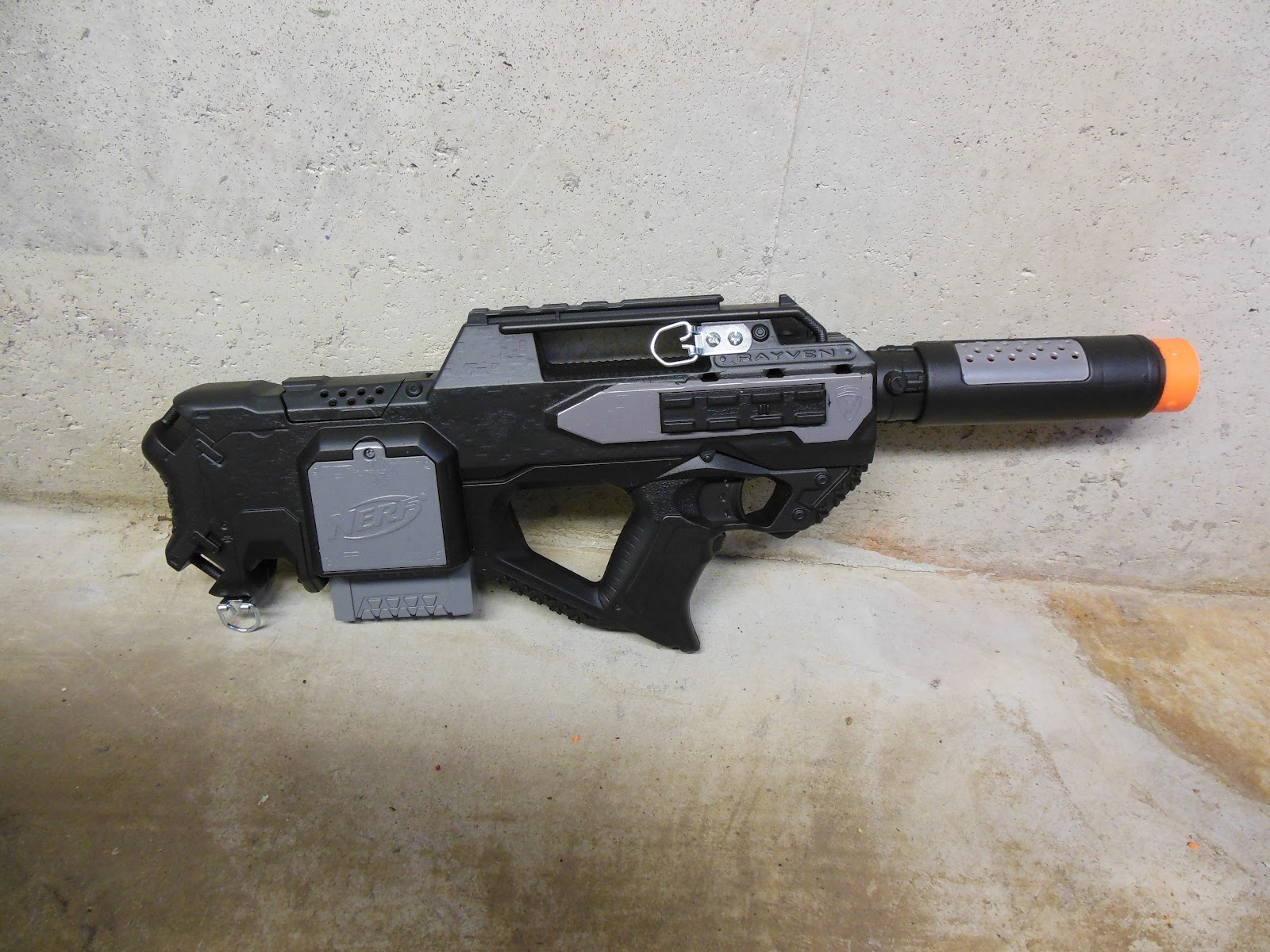 Lasagna678 Nerf Mods Black And Grey Rayven With Extras
