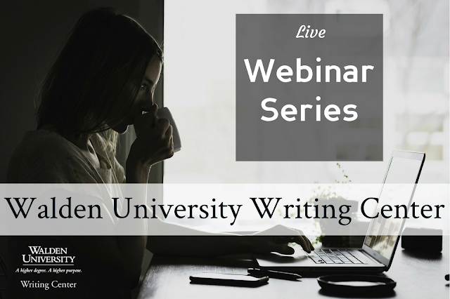Live webinar series: Walden University Writing Center