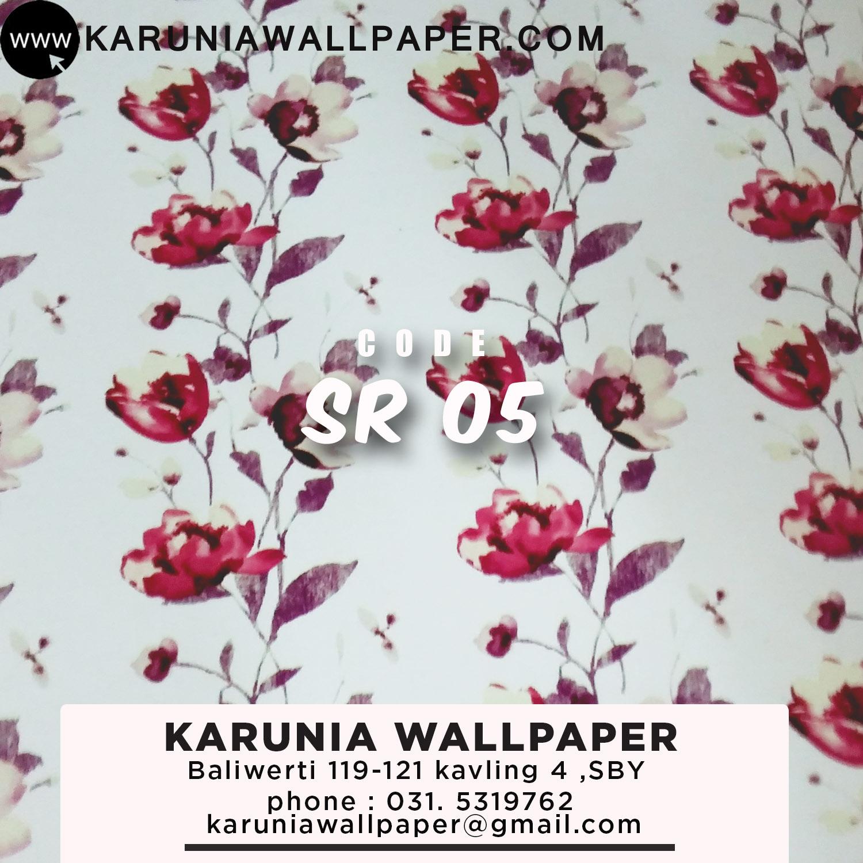 wallpaper dinding motif kembang surabaya karuniawallpaper