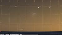 17.05.2018  21:35 CEST - Koniunkcja Księżyca z Wenus