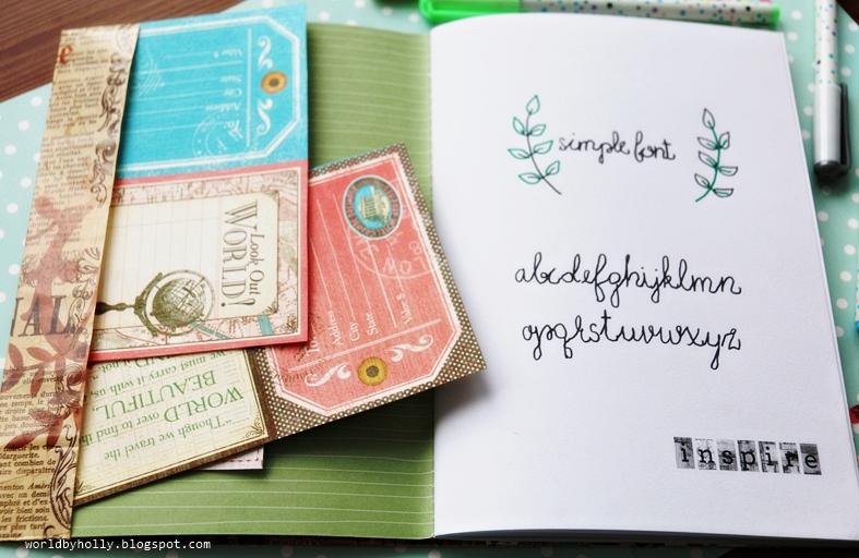 hand-lettering, dekoracyjne pismo ręczne, kaligrafia, planer, journal