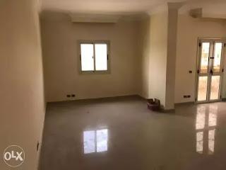 شقة للايجار بالتجمع الاول البنفسج فيلات 215م بالمطبخ والغاز وبالقرب من الرحاب