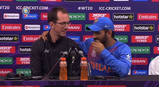 India captain M S Dhoni again gave an unusual response  to an Australian journalist who asked him about his retirement after losing the T20 world cup semi finals against West Indies. .  At 34, Dhoni is among the older players in the international circuit.