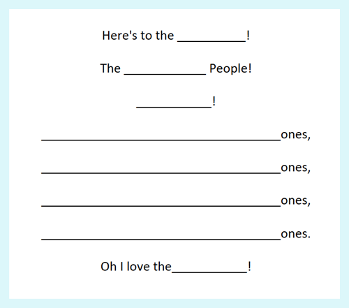 """Nature poems based on the book """"And Here's to You!""""  I've included a free poetry frame for your class to use."""